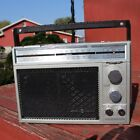GE General Electric AM/FM 8-Track Portable Radio Model 3-5508B Works Perfect