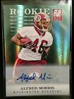 2012 Panini Elite Alfred Morris Green Refractor 399 Auto Rookie Card! MINT!!!