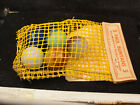 Vintage VERY  RARE Mesh bag Ravenswood marbles w/ header explaining Akro's role