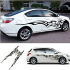 Pair Black Flame Auto Car SUV Decals Graphics Side Door Body Stickers Universal