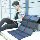 65W Dual Outputs Portable Sunpower Solar Panel Battery Folding Emergency Bag NEW