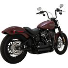 Vance  Hines 47233 Black ShortShots Staggered Exhaust Harley Softail 2018 Up