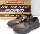 Skechers 64114 USA Mens Expected Gembel Relax Fit Oxford Dark Brown US size 13