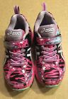 ASICS Girls Pre Turbo PS Running Shoe Size 10 Pink and Lavender