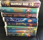 Original Walt Disneys Black Diamond Classics VHS 6 Lot Cinderella Lady