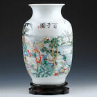 CHINA porcelain vase HAND painting 100 Chinese children playing with wood stand