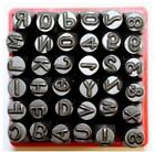 36pc1 4 Letter  Number Stamp Punch Set Heavy Duty Black Tempered Steel in Case