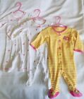 Baby Girls 6 Months Carters Pink White Footed Sleeper Pajama Romper Girl LOT
