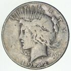 Early 1922 D Peace Silver Dollar 90 US Coin 145