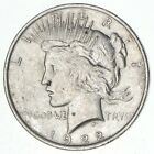 Early Better Grade 1922 Peace Silver Dollar 90 US Coin 063