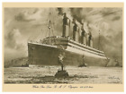 White Star Line RMS Olympic 1920s Poster 8 x 12