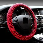 38cm Steering Wheel Cover Leopard Print Fur Cute For Girl Size Fit Winter Warm