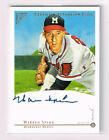 2003 TOPPS GALLERY WARREN SPAHN AUTO AUTOGRAPH ACCENT MARK HALL OF FAME EDITION