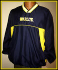 MICHIGAN WOLVERINES 58 SPORTS VNECK EMBROIDERED SPRING PULLOVER JACKET FREE SHIP