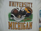 Vintage NCAA Michigan Wolverines 90s Football 1990 T Shirt Size L