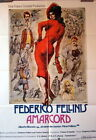 Frederico Fellini AMARCORD original vintage german 1 sheet movie poster R2002