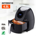 New Black 4.8 QT Oil-Less Air Fryer Digital Touch Screen Low Fat Electric Fryer