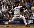 Johnny Cueto Signed San Francisco Giants Pitching 16x20 Photo w Giants 1st Win
