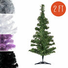 2ft Small PVC Artificial Christmas Tree Unlit Multiple Colors Size S US Seller