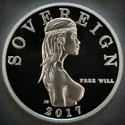 Free Will Bullion 1 Troy Oz 999 Fine Silver Free Will Sovereign Proof Round
