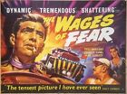 THE WAGES OF FEAR 1953 UK British quad movie poster 30 x 40 Yves Montand
