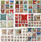 Christmas Xmas Santa Sofa Car Throw Cushion Pillow Cover Case Home Decor Gifts H