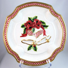 Fitz and Floyd Holiday Bells canape serving plate Christmas