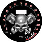 Yamaha Road Star Silverado S 2008 2014 Face plate Skull and Piston kmh and mph
