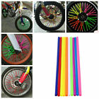72pcs Spoke Skins Covers Motocross Dirt Bike Wheel Rim Guard Protector Wraps ATV