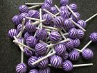 8pc Purple Marbled Lollipops resin fake Kawaii jewelry bow center charm