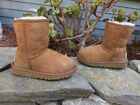 120 UGG Australia Classic Short Chestnut Brown Suede Shearling Boot Lil Kid 10
