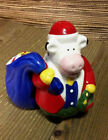 Santa Cow Salt And Pepper Shakers Christmas Holiday Wreath