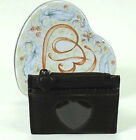 Cute Brighton Brown Leather Coin Purse w/ Heart Tin EUC