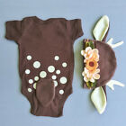 NEW XMAS Newborn Infant Baby Boys Girl Romper Bodysuit Deer Costume Kid Clothes