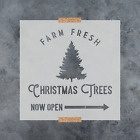 Farm Fresh Christmas Trees Stencil - Perfect Holiday Stencil For Crafts