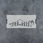 Nativity Stencil Durable  Reusable Mylar Stencils