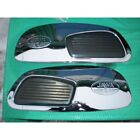 NEW TANK SIDE CHROME COVERS + RUBBERS (PAIR)  -- JAWA 350 (634)