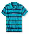 aeropostale mens a87 striped jersey polo