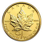 1998 Canada 1/10 oz Gold Maple Leaf BU (Family of Eagles Privy) - SKU #59165