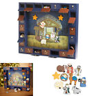 Advent Calendar Kids Christmas Countdown Wooden Nativity 24 Magnetic Figures New
