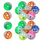 MMdex 18 Pieces Pet Cat Kitten Play Balls With Jingle Bell Pounce Chase Rattl