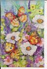 15 BRIGHT BUTTERFLY FLOWERS SPRING SUMMER LARGE HOUSE FLAG 29X43 BANNER