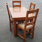 Ex Display Julian Foye Dining Set Solid French Oak Country Style