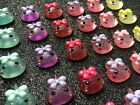 6pc Colorful Water Drops resin flatback Kawaii cabochon jewelry bow center