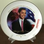 First Edition Collectible Plate of Obamas Historic Victory