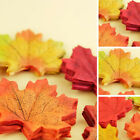 100pcs Fall Silk Leaves Wedding Party Favor Autumn Maple Leaf Home Decorations