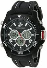 Wrist Armor Men's 37100014 U. S. Marine Corps Black Watch with Rubber Band