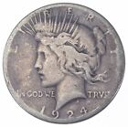 Early 1924 Peace Silver Dollar 90 US Coin 711