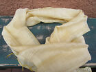 Vintage Shawl Scarf April Cornell For Orvis 100% Silk / Pale Yellow