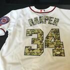 Bryce Harper Signed Authentic Washington Nationals Game Model Jersey JSA COA